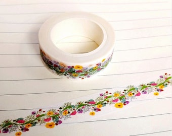Washi tape with flowers - Washi tape flower