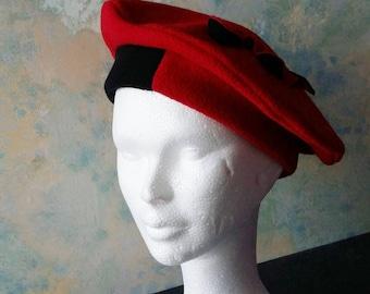 double-sided plain fleece beret Hat