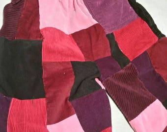 Pink Corduroy Patchwork shorts sz 28-32