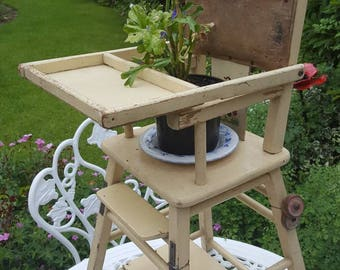 Doll Size Metamorphic High Chair - Display Dolls, Bears or a great plant stand
