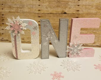 Wonderland party,Winter party,Wonderland Letters ,Snowflake baby shower, Snowflake Decorations , Winter and 1st Birthday Party