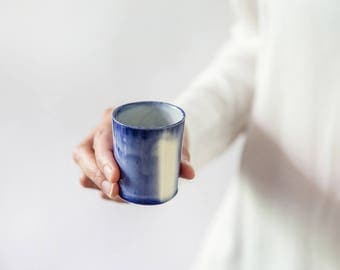 Ceramic Espresso Cup, Coffee Cup, Ceramic Shot Glass, Blue And White Coffee Cup, Italian Espresso Mug, Birthday Gift