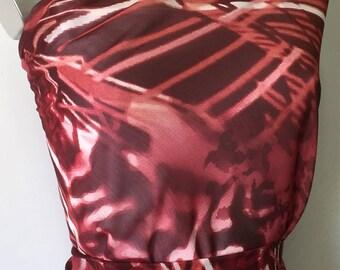 2.70 M chiffon stunning printed, lightweight material and transparent tc71