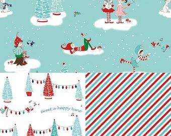 Pixies Holiday Fabric Fat Quarter Bundle - Winter Wonderland - Pixie Noel - Tasha Noel
