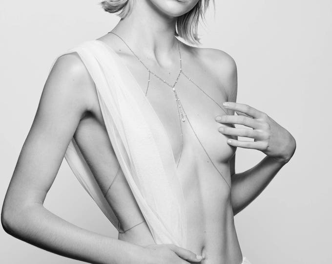 Imagen de anuncio destacado: Body chain with sweet water pearls and white agathe