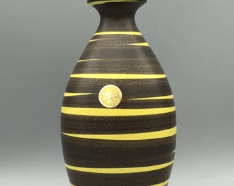 Ilkra Edelkeramik Cairo  201  / 18 design : Ernst Werner   Mid Century , 1950s / 1960s Pottery ,rare shape,  West Germany.