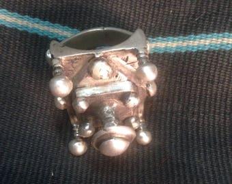 Very large tuareg silver ring.