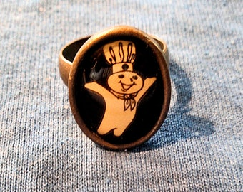 Vintage Pillsbury Doughboy Ring - Free shipping