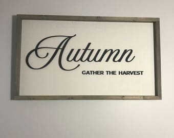 Laser Cut Sign. Autumn  Laser Cut Sign. Autumn Home Decor. Stained Edge Sign. Fall Decor. Autmun Sign. Fall Sign. Fall Decor
