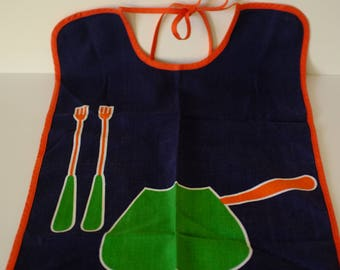 Aprons vintage napkins old, lot child aprons, bibs, set of 4