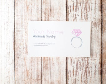 1000pcs Business card printing double sided printing Pink diamond design