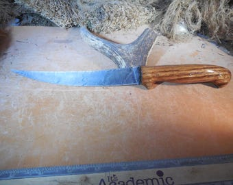 Damascus Fillet Knife with Chestnut wood handles