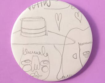 Sketchbook Button - HAT