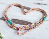 Rainbow dog leash, Strong leash, Rainbow dog lead, Rope leash, Colorful rope leash, Rainbow dog lead, Pet leash, Puppy rope leash, Dog leash