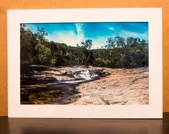 "Physical Photography Print on White Mat Board - Nature Photography - Long Exposure - Davies Creek - 10.5x7"" Print"