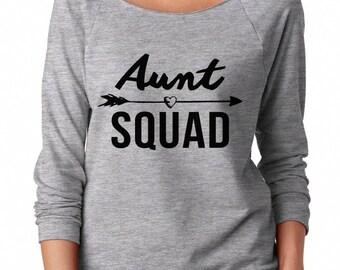 Aunt Squad Sweatshirt Fashion Sweatshirt Gifts Funny Shirt Graphic Teen Sweatshirt Off Shoulder Sweatshirt Teen Sweatshirt Women Sweatshirt