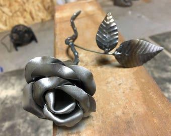 Classic handmade metal rose