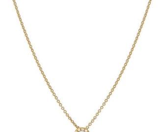 ON SALE Pave diamond initial necklace