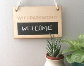 Wooden Wifi Password Sign, wooden sign , guest room sign, housewarming gift, farmhouse decor, airbnb, stocking stuffer, gift for her