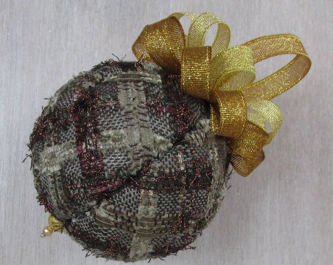 Linton Tweed Bronze & Gold Fizz Luxury Christmas Tree Bauble