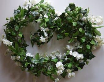 Flower Garland, Floral Garland, Wedding Garland, Ivory Silk Flower Garland, Wedding Flower Garland, Silk Flowers, Garland, Wedding Flowers