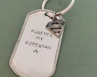 Forever My Superman Keychain - Father's Day
