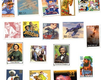 1990s Unused Postage Stamps - 25 All Different