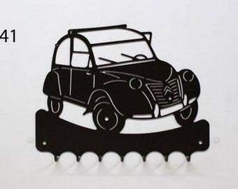 Hangs 26 cm pattern metal keys: Citroen 2CV
