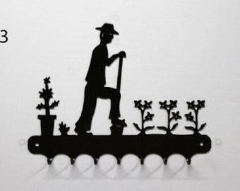 Hangs 26 cm pattern metal keys: gardener