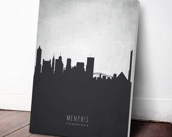 Memphis Skyline Canvas Print, Memphis Cityscape, Memphis Art, Memphis Decor, Home Decor, Gift Idea, USTNME19C