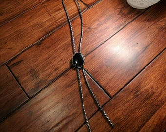 Vintage Bolo Tie - Black