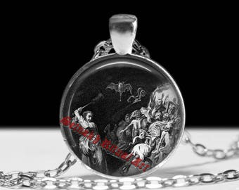 Witch pendant Witchcraft jewelry Occult necklace Magic accessories #418