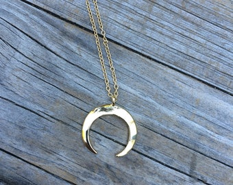 Gold Moon charm necklace, Necklace, Moon necklace, Boho Necklace, Indie Necklace, Gifts for her