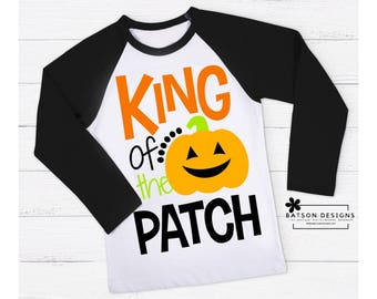 King of the Patch Baseball Shirt | Boys Halloween Shirt | Boys Fall Baseball Shirt | Boys Pumpkin Shirt