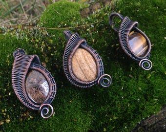 Mini Wire Wrapped Pendants