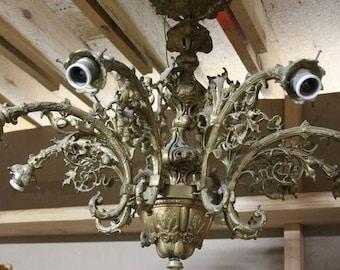 Baroque ceiling light chandelier antique style Al0925