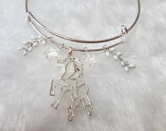 The Unicorn white silver bracelet
