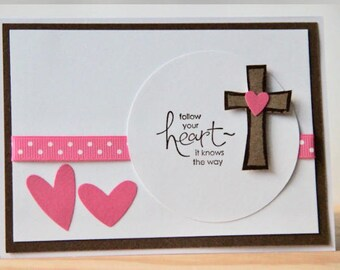 Christian Greeting Card. Confirmation Card. Baptism Card. New Believer Card. Engagement Card.  Christian Encouragement Card. Cross Card