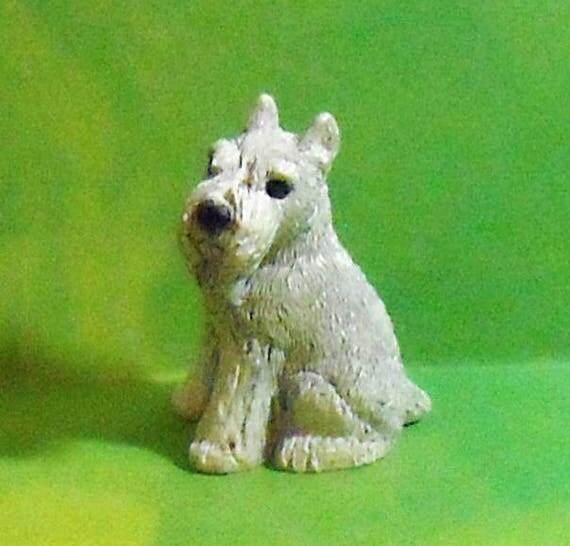 Vintage Miniature Schauzer figurine