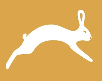 Hopping Hare Decal
