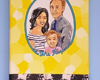 Playroom Portrait -- FAMILY -- Custom Original Painting