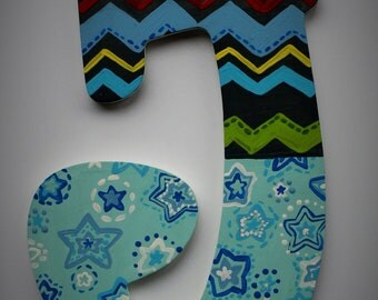 Little Mister Wall Letters -- Hand Painted Custom Wooden Letters -- Price Per Letter