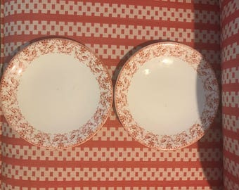 Chinoiserie Orange Plates
