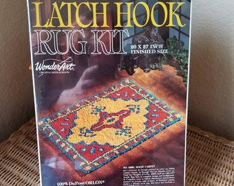 WonderArt latch hook rug kit boho floor rug kit new unopened latch hook kit rug kit