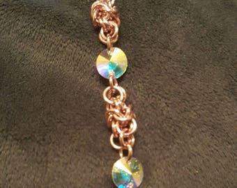 Inverted round Pink bracelet