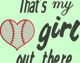 Baseball sport machine embroidery design-boy/girl