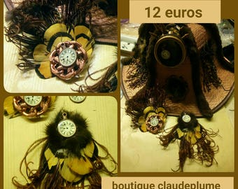 2 application steampunk feather + a gift