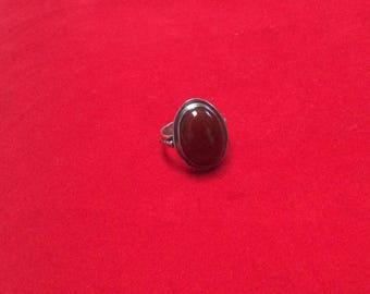 Carnelian Sterling  Silver ring.