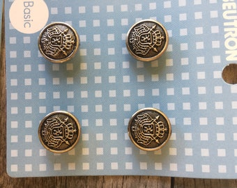Beutron blazer/jacket button set silver tone 6 x 21mm + 12 x 14mm = 18 buttons