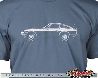 Datsun 240Z 260Z 280Z T-Shirt for Men - Lights of Art - Multiple colors available, Size: S - 3XL - Great Japanese Classic Car Gift